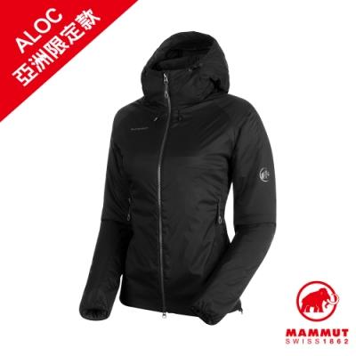 【Mammut 長毛象】Rime IN Flex Hooded Jacket AF Women 彈性保暖連帽化纖外套 黑色 女款 #1013-00760