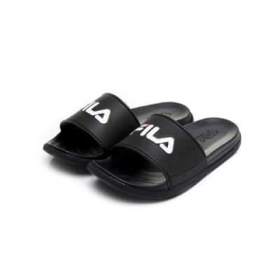 FILA SLEEK TENDER 中性拖鞋-黑 4-S631U-001