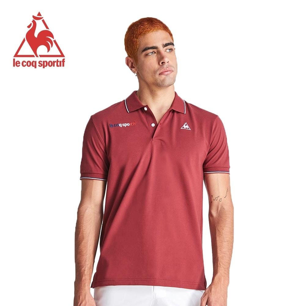 法國公雞牌短袖POLO衫 LOJ2114979-男-暗紅