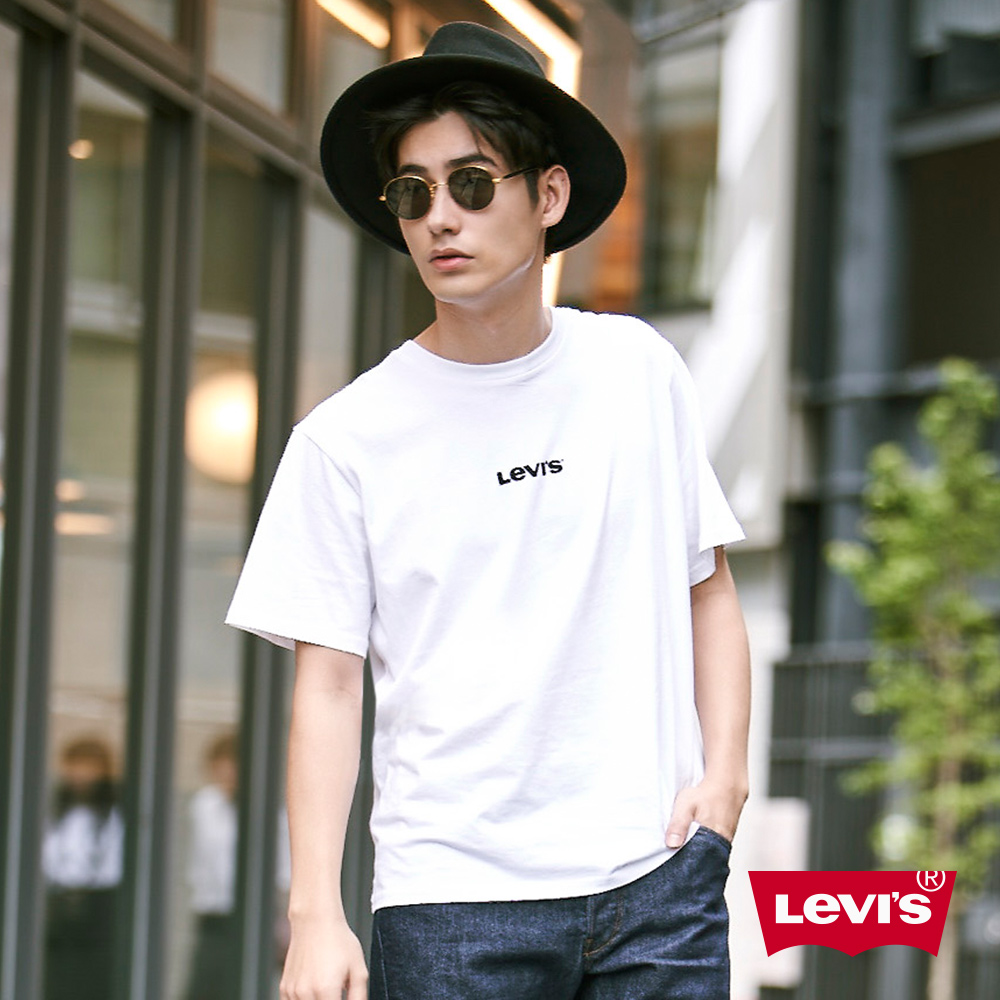 Levis 男款 短袖T恤 Oversize寬鬆版型 簡約日系風