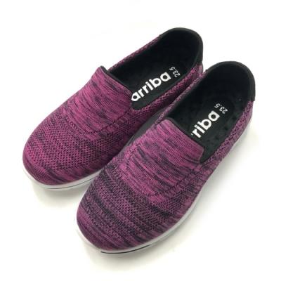 ARRIBA艾樂跑女鞋-飛織輕量懶人鞋 便鞋-桃紅/藍(FA534)
