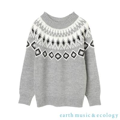 earth music 北歐圖騰設計針織上衣