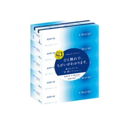 日本大王  elleair Water水潤柔感抽取面紙 180抽X5盒/串