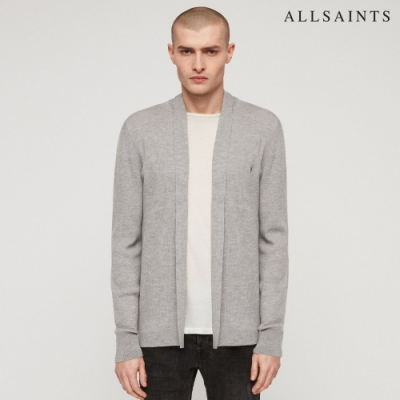 ALLSAINTS MODE MERINO 公羊頭骨刺繡美麗諾羊毛修身針織外套