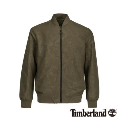Timberland 男款軍綠色雙面穿壓紋飛行員夾克|A1XWV