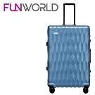 FUNWORLD 26吋鑽石系列鋁框行李箱-沁心藍