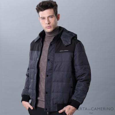 ROBERTA諾貝達 抗靜電 內裡鋪棉帥氣夾克外套 灰黑