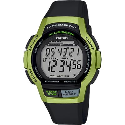 CASIO 卡西歐 運動慢跑手錶-萊姆綠(WS-1000H-3A)