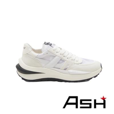 ASH-SPIDER 620-02 復古超透氣慢跑鞋-白