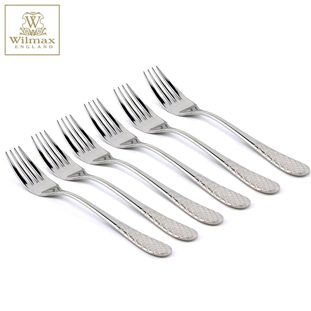 英國 WILMAX 304不鏽鋼餐具餐叉-6入組