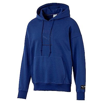 PUMA-男性流行系列Downtown寬版長厚連帽T恤-寶石藍-亞規