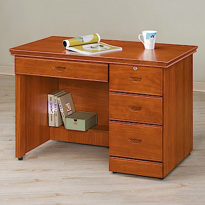 AS-摩根柚木3.5尺書桌-105x57x75cm