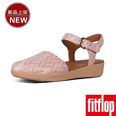 FitFlop COVA II CHEVRON SANDALS-灰粉色