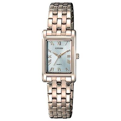 CITIZEN  都會OL風格石英女錶(EJ6123-56A)-銀/17.5x20.5mm