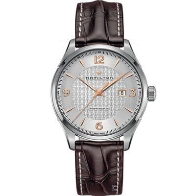(無卡分期12期)Hamilton Jazzmaster 自動上鍊機械腕錶(H32755551)
