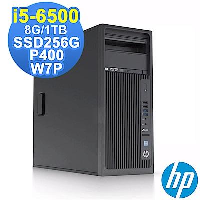 HP Z240 TWR i5-6500/8G/1TB+256G/P400/W7P