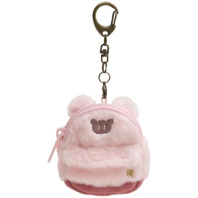 拉拉熊專用換裝系列背包零錢包吊飾。粉紅毛毛包 San-X