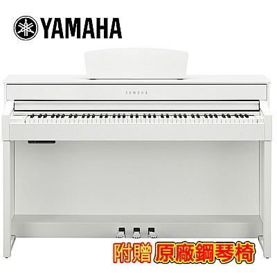 [無卡分期-12期] YAMAHA CLP-535 WH 88鍵標準數位電鋼琴 典雅白色款