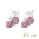 10mois  瑪莉珍荷葉短襪(粉)
