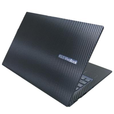 EZstick ASUS VivoBook X413 X413FA X413FP 酷玩黑 黑色立體紋機身貼