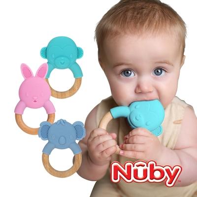 Nuby 矽膠造型櫸木固齒器