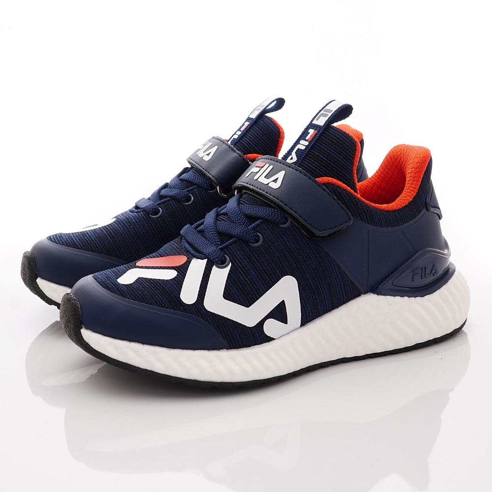 FILA頂級童鞋 輕量慢跑款 EI09U-311藍白紅(中大童段)