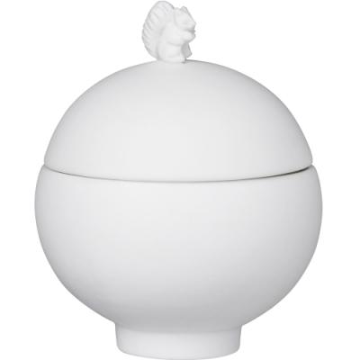 《RADER》手工白瓷飾品罐(松鼠)