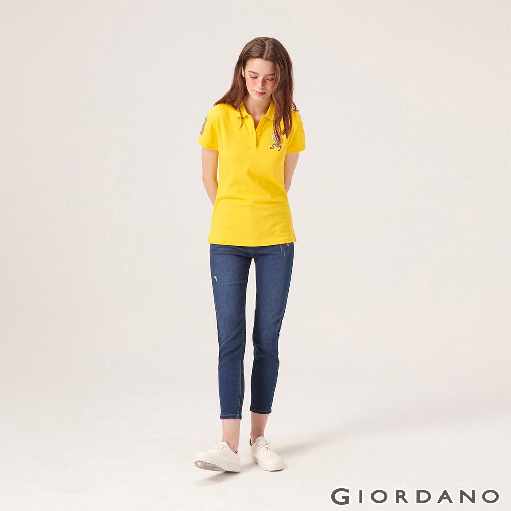 GIORDANO 女裝縲縈混紡中腰彈力貼身牛仔褲-52 中藍