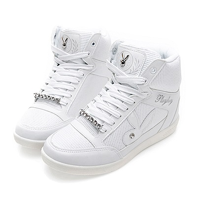 PLAYBOY魅力首選 韓系內增高休閒鞋-白