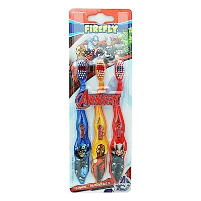 美國 FIREFLY Avengers兒童牙刷(3入裝)