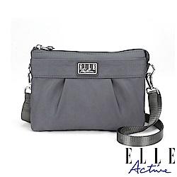 ELLE Active 優雅隨行系列-輕薄多夾層側背包/斜背包/手拿包-灰色