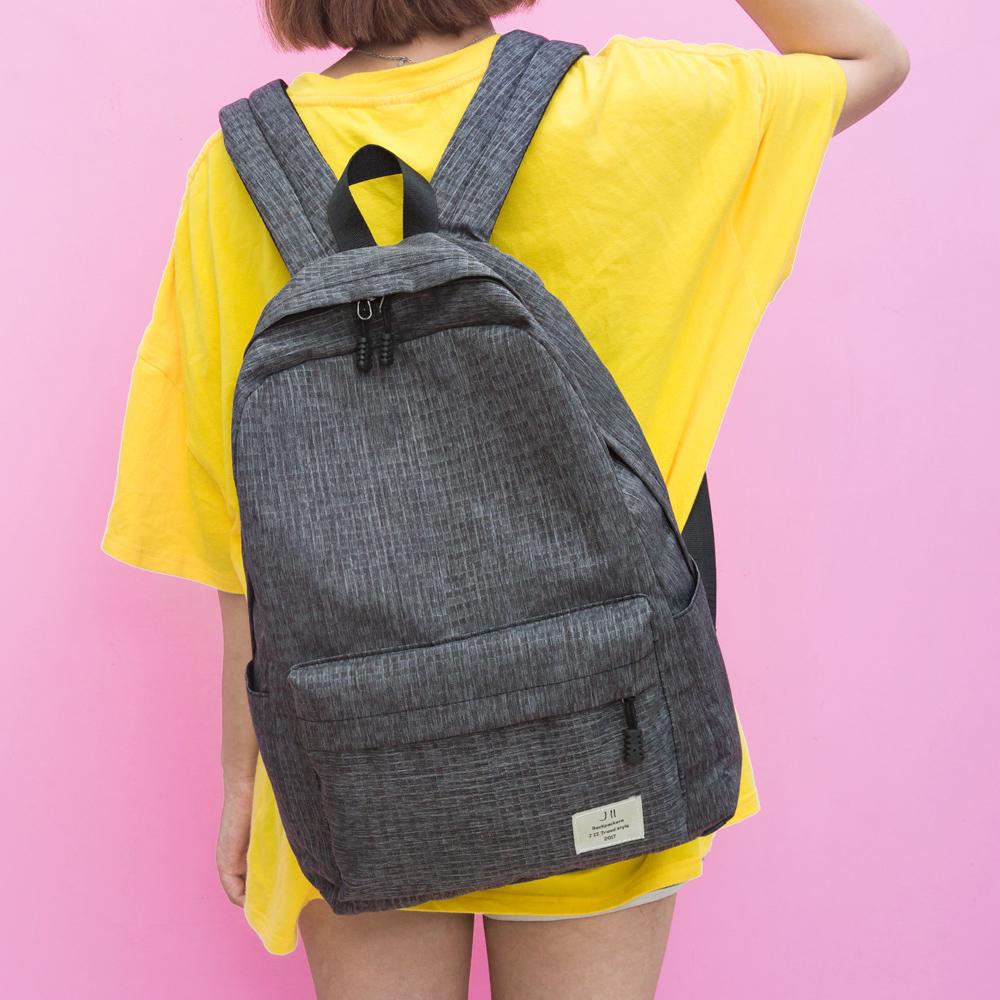 J II後背包 格紋刷色防潑水後背包-6270-1