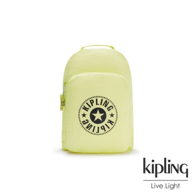 Kipling 清新奶油果綠好收納後背包-BACKPACK