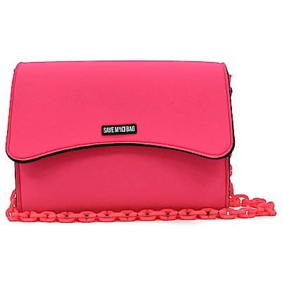 SAVE MY BAG 義大利品牌 BELLA MINI系列 螢光粉超輕量肩背/斜背包