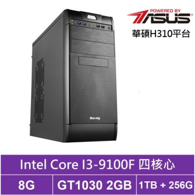 華碩H310平台[飛鳥特警]i3四核GT1030獨顯電玩機