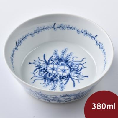 Natural69 波佐見燒 Kranz系列 圓形點心碗 花園 380ml 日本製