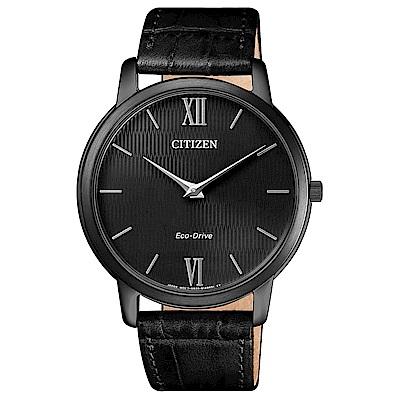 CITIZEN 紳士品味藍寶石光動能石英腕錶(AR1135-10E)-黑/39mm @ Y!購物