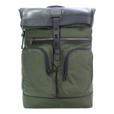 TUMI ALPHA BRAVO 尼龍拼接雙口袋後背包(適用15吋筆電)-軍綠