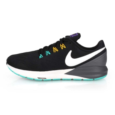 NIKE AIR ZOOM STRUCTURE 22 男慢跑鞋 黑白灰