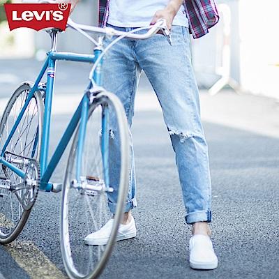 Levis男款 上寬下窄 502Taper牛仔長褲 刷破 SneakerJeans