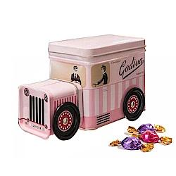 GODIVA 經典粉紅小貨車巧克力鐵盒(80g)