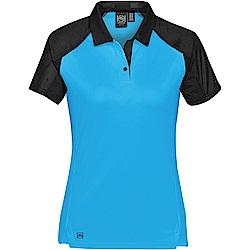 加拿大STORMTECH超吸排H2X-DRY拼接POLO衫-女-水藍