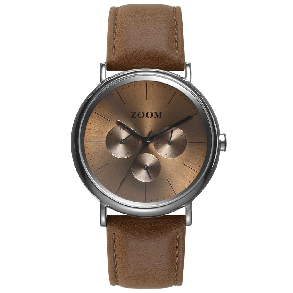 ZOOM Moment 美好時光設計錶 - 咖啡 / 40mm