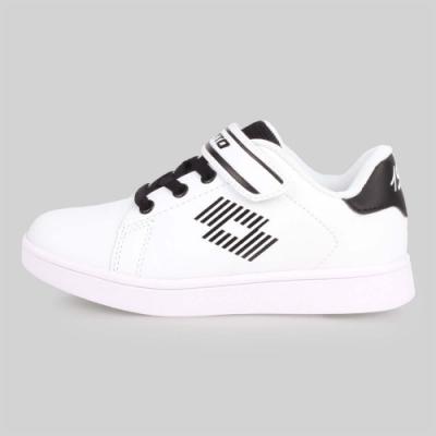 LOTTO 男女兒童1973經典網球鞋-慢跑 童鞋 白黑