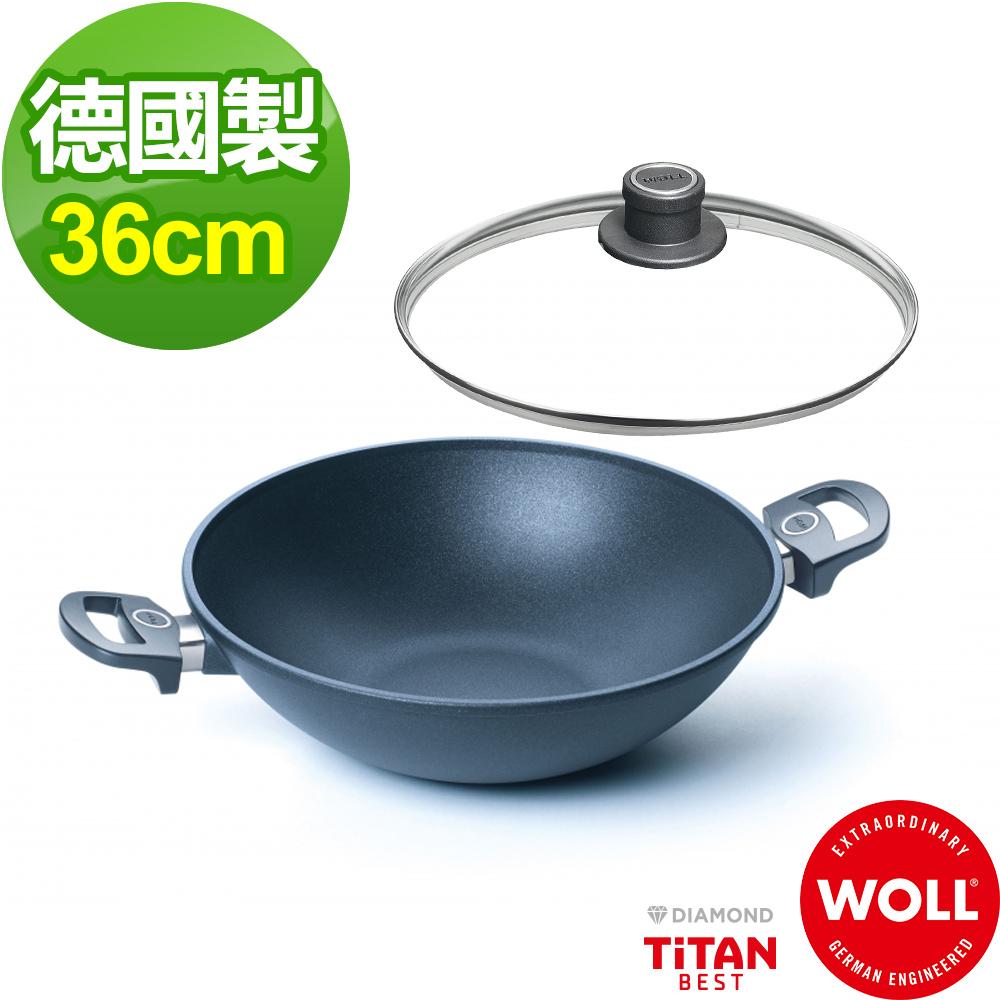 德國 WOLL Titan Best鈦鑽石系列36cm 中華炒鍋(含蓋)