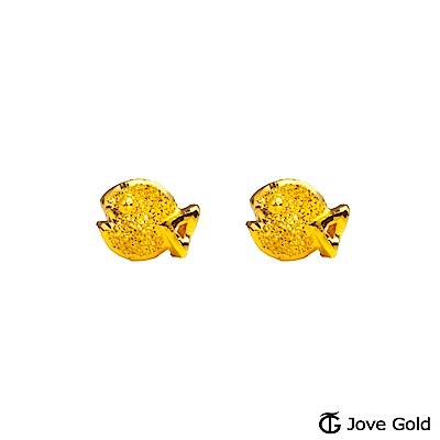 Jove gold 一口幸福黃金耳環