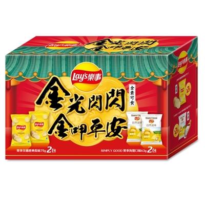 Lay s 樂事 金光閃閃洋芋片組合箱 276g/盒