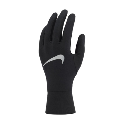 Nike 手套 Running Gloves 運動 女款 快乾排汗 透氣 路跑 慢跑 可觸控 黑 銀 N1001585082