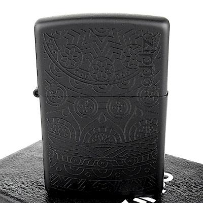 ZIPPO 美系~Tone on Tone-花紋圖案膠印設計打火機