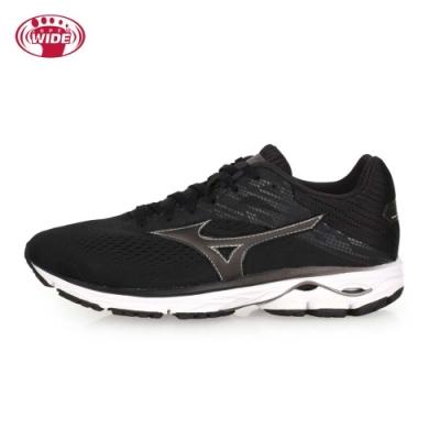 MIZUNO 男 慢跑鞋-WIDE WAVE RIDER 23 SW 黑深灰